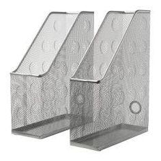 DOKUMENT Tidskriftssamlare set om 2 - silverfärgad, - IKEA