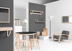 La marca finlandesa Artek rediseñó algunos de los muebles clásicos de su fundador Alvar Aalto para presentarlas durante la feria Maison + Objet 2015.