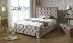 iBEX CRUSHED VELVET Upholstered Storage Bed Frame , Single, double and king | eBay