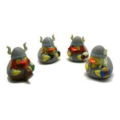 Gummiente Wikinger 4 Stück Spritzente, Gummi-Ente: Amazon.de: Spielzeug