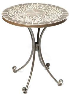 Alfresco Home 24-Inch Vulcano Bistro Table and Base, Mosaic Design « zPatioFurniture.com
