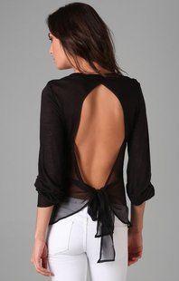 chiffon tie back top