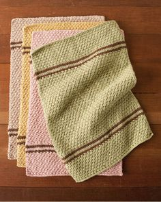 Kitchen Towel Set Soft Kit  -  So pretty  (Inspiration only) Use seed or moss stitch )