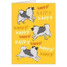 Happy Happy Keeshond Card