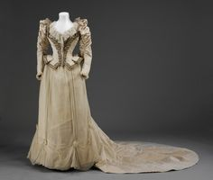The dress I imagined Charlotte Gray wore to wed Patrick Rochester.  (front) Circa 1890
