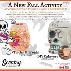 Scentsy Harvest Collection 2016 - DIY Warmers Tricks & Treats & DIY Calavera Flyer By: Brittany McKee Admin Of: No-Nonsense Canadian Flyers Sharing Group on Facebook www.brittanygerrity.scentsy.ca