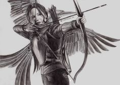 Katniss Everdeen by stasya-jl on DeviantArt Divergent Hunger Games, Hunger Games Fandom, Hunger Games Mockingjay, Katniss Everdeen, Hunger Games Drawings, Tribute Von Panem, Hunter Games, Star Wars, Catching Fire