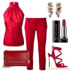 O batom e a roupa, via http://www.carolinedemolin.com.br