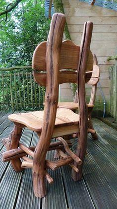 Bespoke Oak Woodland Dining chair by MerlinsCraft on Etsy
