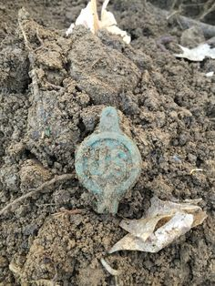 Just dug. Boss off a civil war bridal. Found in a union camp site. New York State Parks, Native American Artifacts, Metal Detecting, Civil War Photos, American Civil War, Old West, Archaeology, Treasure Hunting, Camping