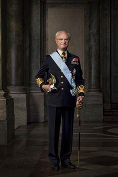 H.M. King Carl XVI Gustav of Sweden – Official Portrait
