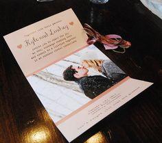 chevron wedding invitation pink rustic wedding por OhCaraPapers, $4.00