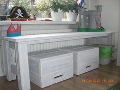 kindertafel steigerhout white wash