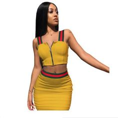ec7e175260 Women Sexy stitched condole belt Top Bodycon Mini Skirt Outfit Two Piece  Dress