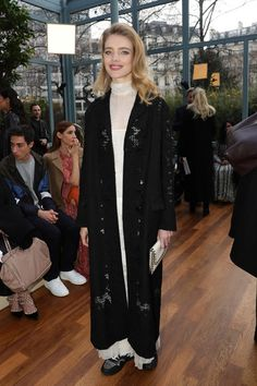 Natalia Vodianova attends the Valentino show as part of the Paris Fashion Week Womenswear Fall/Winter 2017/2018 on March 5, 2017 in Paris, France.