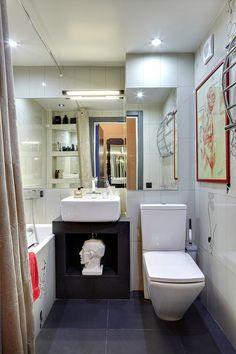 дизайн маленькой ванной, интерьер маленькой ванной, маленькая ванная, интерьере типовой квартиры