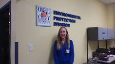 Elizabeth Florence interns at Orange County Environmental Protection Division.