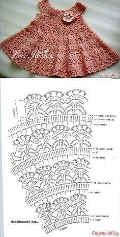 "Mi baúl de Inspiraciones : Vestidos hechos en crochet para niñas [ ""Gotovь letnee plаtьe zimoй)): Dnevnik gruppы \""Vяzаnie\"" - Strаnа Mаm"", ""Love the pattern"" ] # # # # # # # Crochet Dress Girl, Baby Girl Crochet, Crochet Baby Clothes, Crochet For Kids, Crochet Fabric, Crochet Stitches, Knit Crochet, Crochet Designs, Crochet Patterns"