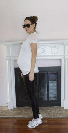 A Minimalist's Maternity Style