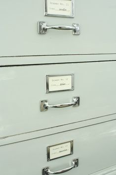 drawer pulls and library card tag holders