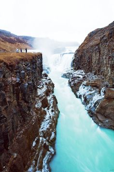 Top 10 Things To Do In Iceland!  Gullfoss is Iceland's most famous waterfall. The pictures can't show just how big this waterfall really is. The water is glacier runoff, and ultimately flows into the ocean.
