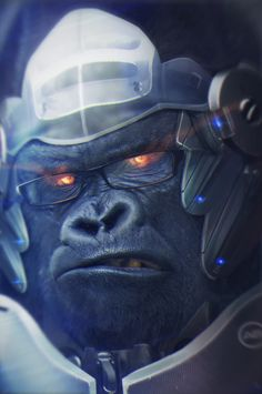 winston overwatch, brahim azizi on ArtStation at https://www.artstation.com/artwork/VDJ5Z