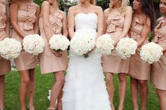 I want the color, but I don't want all the bridesmaids to look the same. And my bouquet has to be different.