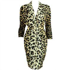 Thierry Mugler Leopard-Printed Silk Dress