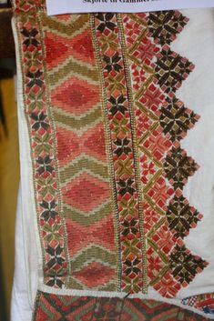 Geometric Embroidery, Embroidery Designs, Hardanger Embroidery, Machine Embroidery, Folk Costume, Costumes, Scandinavian Embroidery, Folk Clothing, Dress Neck Designs