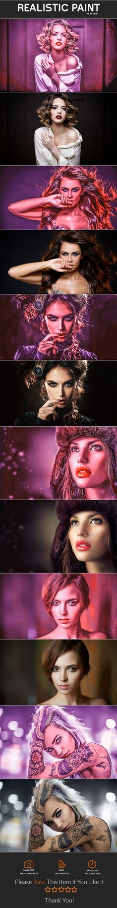 Realistic Paint - Photo Effects Actions