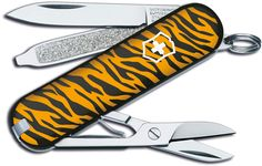 VICTORINOX Swiss Army Classic SD Tiger Fashion Print Multi-Tool, 2-1/4 inch Closed