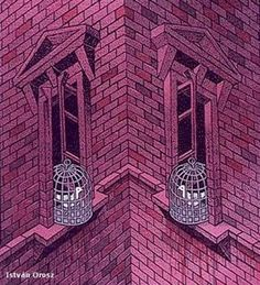 optical illusion- is it caving in or caving out? Op Art, Cool Optical Illusions, Art Optical, Eye Tricks, Mind Tricks, 3d Street Art, Mc Escher, Magic Eyes, Illusion Art