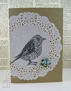 addINKtive designs: Doily Cards- oh stamping on doily, be still my crafty heart