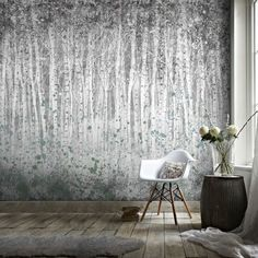 Couture Painterly Woods Mural | Graham & Brown UK