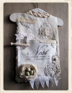 lovely polish linen collage with nest