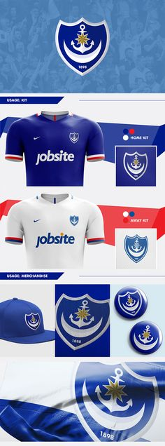 Portsmouth FC Crest Redesign Concept by Nick Budrewicz