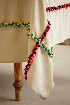 Pom Pom Tablecloth | Anthropologie
