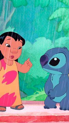 Lilo and Stitch Cute Disney Wallpaper, Cute Wallpaper Backgrounds, Wallpaper Iphone Cute, Cute Cartoon Wallpapers, Disney Pixar, Disney Cartoons, Disney Art, Lilo En Stitch, Lilo And Stitch 2002