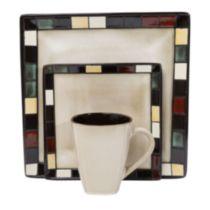 Mosaic Tile 16 Piece Dinnerware Set