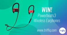Powerbeats3 Wireless Earphones Giveaway! Make every workout terrific with Power Beats3 Wireless earphones. Sweat and water resistant, RemoteTalk with in-built mic offers access to calls across multiple devices, music adjustments and Siri activation to deliver dynamic purpose and long-term durability.   Get a chance to win it for free with Triffiq. Worldwide Giveaway  #worldwidegiveaway #giveaway #sweepstakes #contestalert #earphone #music