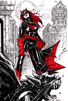 "infinity-comics: "" Batwoman by olivernome "" Batwoman, Dc Batgirl, Batgirl Cosplay, Comic Book Characters, Comic Character, Comic Books Art, Dc Comics Art, Comics Girls, Gotham City"