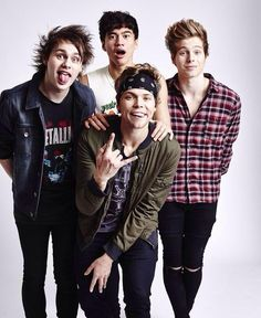5SOS<<< you do not simply put 5SOS YOU FANGIRL BECAUSE THEY LOOK SO FREAKING GOOD IN THIS PICTURE