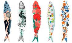Small Photo Frames, Lisbon Apartment, Seven Fishes, Fish Art, Book Illustration, Portugal, Mosaic, Wedding Decorations, Creations