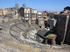catania: il teatro greco, in via vittorio emanuele