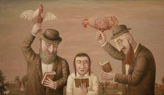 History of Art - Lubarov Vladimir Arte Judaica, Jewish Art, Naive Art, Outsider Art, Fantastic Art, Cool Paintings, Great Artists, Holiday Fun, Abstract Art