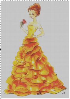 Disney Designer Princess Doll Belle (Beauty and the Beast) Cross Stitch Pattern PDF (Pattern Only). $5.00, via Etsy.