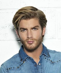 medium blonde straight coloured multi-tonal Mens hairstyles for men