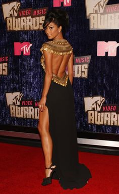 In an Egyptian style dress at the 2007 MTV VMAs