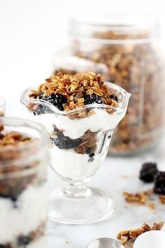 Yogurt Parfaits with Homemade Granola