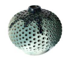 Turquoise Ceramic Lantern Handmade Night light by Essenziale, $35.00